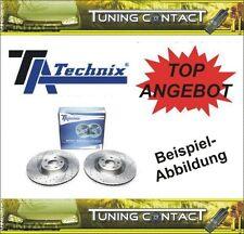 TA Technix Sport Bremsscheiben VA gelocht+geschlitzt Audi 80 B4 89 89Q 2714P