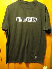 World of Beer Cinco De Mayo 2012 STAFF Promo T Shirt Black Large Viva La Cerveza