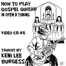 Gospel Guitar CD 8  video lessons - country blues Bible Jesus Christian keni lee