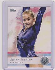 2012 TOPPS OLYMPIC SHAWN JOHNSON GYMNASTICS SILVER CARD #1 ~ MULTIPLES