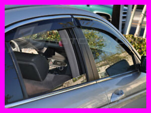 Accord Sedan 2008 2009 2010 2011 2012 Out-Channel Chrome Trim Window JDM Visors