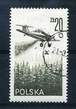 POLOGNE 1977 timbre aérien 57, avion, oblitéré
