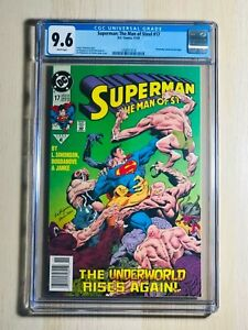 Superman: The Man of Steel 17 CGC 9.6 ~ Doomsday cameo ~ First Printing