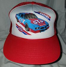 Vintage Richard Petty STP Racing 43 Car Red White Nascar Snapback Cap Hat