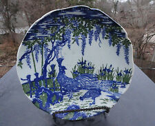 Nabeshima Ware Japanese Plate -  Cobalt Blue Wisteria - Rooster Japan