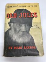 Old Jules Mari Sandoz 1935 1st Edition Hardcover with Dust Jacket $5K Prize Book