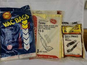 (6) Eureka  Vaccuum Bags From Open Bags Style F&G ,7000 Series,210,1212,1401