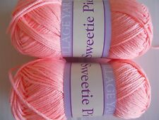 Village Yarn Sweetie Pie 6-ply baby yarn, Peaches (coral), lot of 2(138 yds ea)