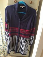 Paraphrase Navy Patterned Tunic Cardy/Coat, Size S, WORN ONCE