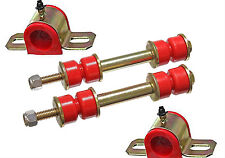 "70-81 Trans Am Polyurethane Front Sway Bar Bushing / End Link Kit 1 1/8"" RED"
