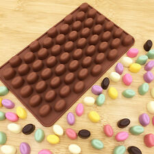 55 Mini Coffee Bean Silicone Mould Cake Candy Sweet Chocolate Cookie Baking Mold