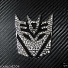 Car Metal Crystal Diamond Transformers Decepticon Motorcycle Badge Emblem
