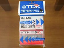 TDK Telephone Pack (Endless+D60L). JAPAN  BLANK AUDIO CASSETTE TAPEs. NEW RARE