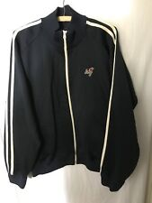 Abercrombie & Fitch Navy Blue XL Heavyweight Track Jacket Stripes