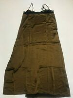 MOTEL ROCKS Batilia Dress in Satin Brown with Black Lace   (MR112)