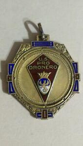 Pro Dronero Calcio Football Serie Medaglia argento Piemonte Stile Liberty