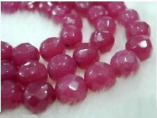 8mm FACETED BRAZILIAN RUBY BEADS ROUND 15''