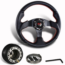 320mm Black PVC Leather Racing Steering Wheel + Hub For 1984-2004 Ford Mustang