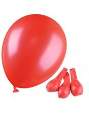 Helium Balloons 24 Red 30 Cm Metallic Rubber Latex Biodegradable Packet Aus
