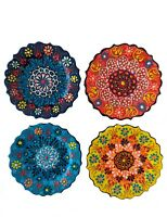 Turkish Decorative Hanging  Wall Plates Set of 4 Ceramic - Handmade Home decor