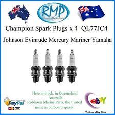 A Brand New Set Of 4 QL77JC4 Spark Plugs Yamaha Evinrude Mercury Johnson