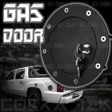 Cobra-tek BLACK GAS FUEL DOOR W/ LOCK 01-06 GMC CHEVY SIERRA SILVERADO 2500 3500