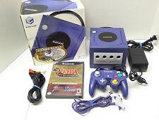 Nintendo Gamecube Indigo System Complete! 3 Zelda Games! Plug n' Play! Bundle
