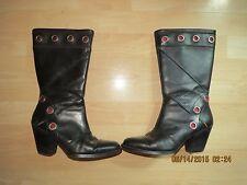 Harley Davidson Leather Boots, RARE Unique Design, Womens SZ 5.5