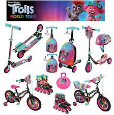 Trolls  Tri Scooter, Folding In Line, Bike, Safety Helmet - FAST & FREE DELIVERY