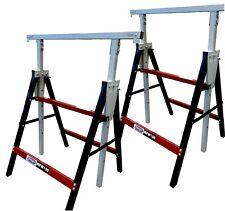 2 x Lumberjack Folding Work Horse Trestle Saw Adjustable Height Stand 150kg Each