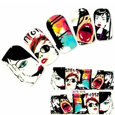Tattoo Anime Nail Art Aufkleber Model Manga Geisha Japan Water Decall