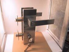 Plate lever  entrance handle  Satin Chrome