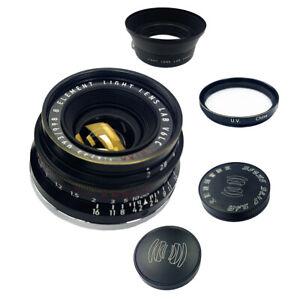 Light lens lab Lens 35mm F2 F/2 Brass black for Leica Summicron M Eight Element
