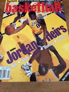 "Kobe Bryant/Tim Duncan ""Jordan Heirs"" Beckett Magazine April 1999! Mint!"