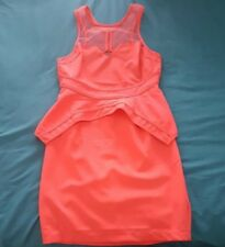 "Bright Pink ""Blossom"" Dress, Peplum, Backless Size 8 NWT"