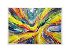 grande Peinture abstraite Vague de couleurs déco moderne Art colorful