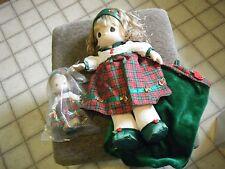 precious moments dolls Carol Stocking Doll and Christmas Carol
