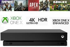 Microsoft Xbox One X 4K Replacement BLACK Games Console ROBLOX FORTNITE COD UK!!