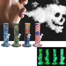 Giow In The Dark Silicone Hookah Water Smoking Pipe Bongs Tobacco Bubbler Kit