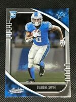 2020 Absolute Football - D'Andre Swift Rookie Card #124 Silver Foil RC - Lions