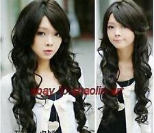 Wigs,noir longue Ondulé santé cosplay Costume cheveux perruques