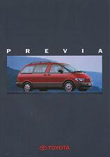 Prospekt Toyota Previa 1993 Autoprospekt 11 93 brochure Auto PKWs Japan Asien