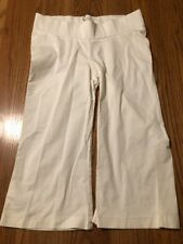 Noppies Designer Maternity White Cotton Trousers size M over bump band