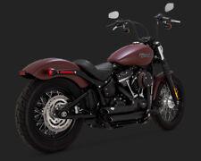 2018 Harley FLSL Softail Slim : Vance and Hines Black Short Shots : 47233