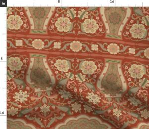 Persian Damask Renaissance Medieval Uhlenkott Spoonflower Fabric by the Yard