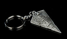 Star Wars Star Destroyer Pewter Key Chain from Qmx-Free S&H (Swkc-02)