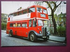 POSTCARD LONDON TRANSPORT AEC REGENT MK III LOWBRIDGE BUS AT CLAPTON POND