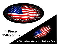 OVALE FADE TO BLACK americana Stars & Stripes BANDIERA VINILE Auto Adesivo Decalcomania 150mm