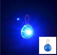 Mini Pet Dog Cat Puppy LED Flashing Collar Safety Night Light Keyring Pendant