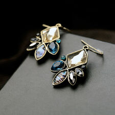 Costume Fashion Earrings Baroque Fine Blue Amber Mother Shell Grey Irregular C5